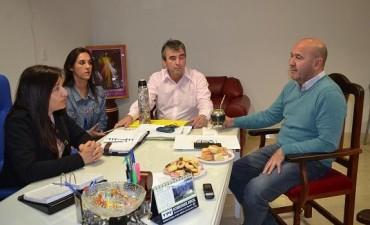 El Subsecretario de Coordinación Institucional de Municipios de la provincia Alcides Arguello, mantuvo un contacto mano a mano con la Intendente Susana Maggio.